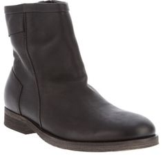 SALE - Mens Ksubi Helter Flat Boots Black Leather - Was $339.50 - SAVE $204.00. BUY Now - ONLY $135.80