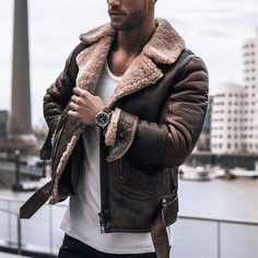8a5cdd853f6 Men s Shearling Sheepskin Bomber Jacket - Billy - Genuine Valeriano Romano  bomber jacket made for you. Group Buy Offer - see website for details
