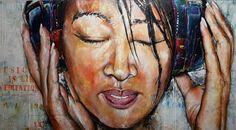 Schilderij Priscilla Wan door Patrick van Haren