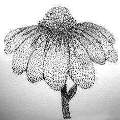 pointillism flower by 0okami-Rei.deviantart.com