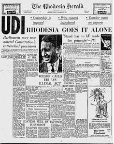 Rhodesia Herald - the day reality began to dawn.