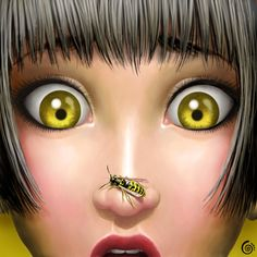 WASP.  my little nightmare by UndineCG.deviantart.com on @deviantART