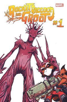 Rocket Raccoon and Groot #1 by Skottie Young *