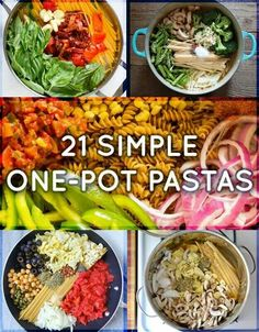 21 One Pot Pasta Recipes