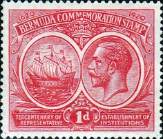 Bermuda 1920 King George V Institutions Tercentenary SG 65 Fine Mint SG 65 Scott 67 Other British Commonwealth stamps for sale here