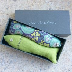 lavendar sardines sachets. such a sweet gift and to keep your laundry fresh.