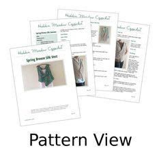 Crochet Pattern Crochet Vest Pattern por HiddenMeadowCrochet