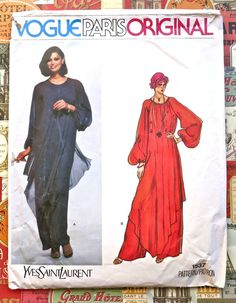 Vogue 1537  Yves Sain Laurent Womens Dress Pattern  by Fragolina, $42.00