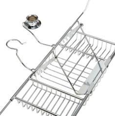 Amazon.com - Taymor Aromatherapy Bathtub Caddy, Chrome - Shower Caddies
