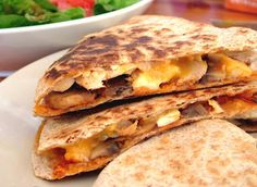 Chicken & Mushroom Quesadillas