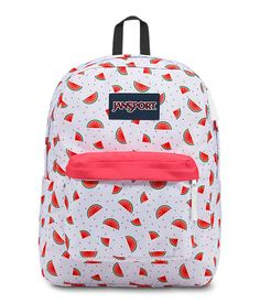 Shop the latest collection of JanSport Superbreak Backpack - Watermelon Rain - Classic, Ultralight from the popular stores - all in one Mochila Jansport, Jansport Superbreak Backpack, Cute Jansport Backpacks, Girl Backpacks, Pretty Backpacks, Cute Mini Backpacks, Best Backpacks For School, College Backpacks, Cute School Bags
