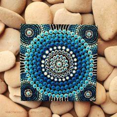 Dot Art aborigène petit tableau Original eau par RaechelSaunders, $20.00