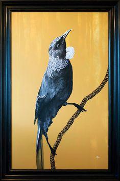 Tuihana Fine Art Print featuring a Tui by New Zealand Artist Sofia Minson Painting Inspiration, Art Inspo, Tui Bird, New Zealand Art, Nz Art, Maori Art, Steel Art, Mural Art, Art Techniques