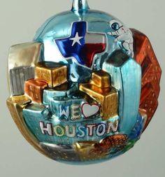 Houston Skyline Ornament #houston #houstonornaments #christmas #ornaments