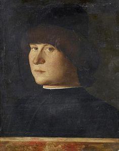 Bellini Giovanni ? - Ritratto di giovane uomo con berretto  - 1510 ca. - Accademia Carrara di Bergamo Pinacoteca