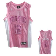 Women Orlando Magic #12 Dwight Howard Pink Jersey