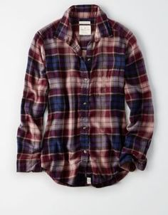 AEO Ahh-Mazingly Soft Plaid Boyfriend Shirt by  American Eagle Outfitters | Like his, but better.Like his, but better. Shop the AEO Ahh-Mazingly Soft Plaid Boyfriend Shirt and check out more at AE.com.