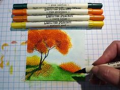 Layered Autumn Trees Tutorial - Splitcoaststampers, by Frenzied stamper