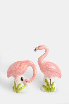 Trouva: & Klevering Flamingo Salt & Pepper Shakers