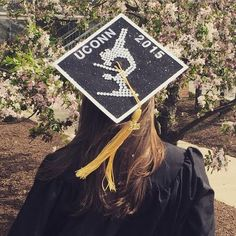 UConn science graduation cap microscope! #BS