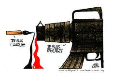 Charlie Hebdo cartoon - = Zunar  - Malesia - §