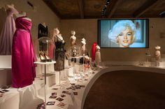 Ferragamo Museum - Marilyn Monroe Exhibition - Florence, Italy - pink and white design