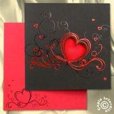 coeur noir/rouge