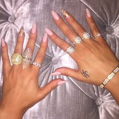 Get the look: Khloe Kardashian - Shop our Pave Crystal Deep V Ring to get Khloe's look! Available in silver and gold.