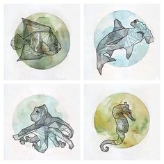 Geometric Animals by Allison Kunath