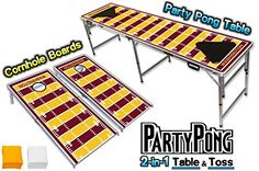 2in1 Cornhole Boards  Beer Pong Table  Washington Football Graphic * For more information, visit image link.