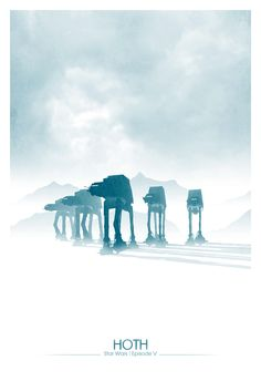 Star Wars: Episode V – The Empire Strikes Back poster /// by DirtyGreatPixels