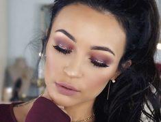 smlx0 on Youtube. Burgundy makeup look. Holiday makeup look. Glitter holiday tutorial. Cranberry eyes. Thanksgiving makeup. 2017. Stephanie Ledda.