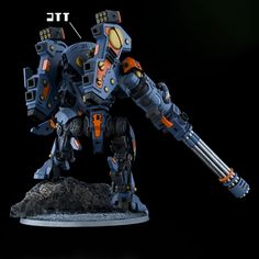XV105 Tsunami Battlesuit Rear by Tau-Crisis on DeviantArt