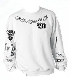 Allntrends Women's Sweatshirt 1D Louis Tomlinson Tattoo Medium White Allntrends http://www.amazon.com/dp/B00P633YRM/ref=cm_sw_r_pi_dp_I5q3vb0CD6YQV