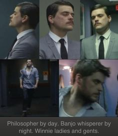 Philosopher by day, banjo player by night. He is winston Marshall ( whispers in the dark music video)