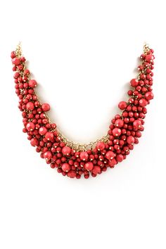 Classic Rouge Bea Cluster Necklace