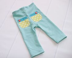 A Squeeze of Lime - newborn knit pants in a dusty aqua, turquoise, teal, lime…