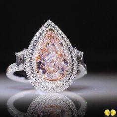 3c67ea3e495 Novel Collection 3ct fancy light pink diamond ring.  Novel   NovelCollection… Pink Diamond