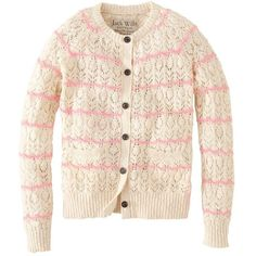 Jack Wills Maywood Cardigan (78 CAD) ❤ liked on Polyvore featuring tops, cardigans, jackets, clothes / cardigans, layering cardigans, scalloped lace top, lace cardigan, embroidered lace top and pink top