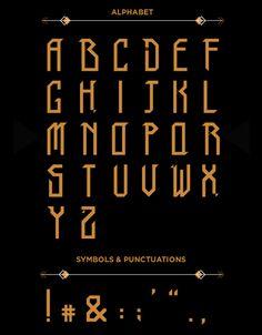 TRIBO Font Letters #freefonts #fontsfordesigners