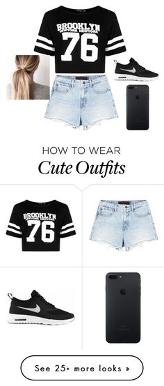 """Cute Fall or Spring OutFit"" by alexis-sites-617 on Polyvore featuring Alexander Wang, Boohoo and NIKE"
