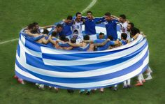 National Greek Soccer team go to Brazil . Learn Greek, Go Greek, Greek Life, Karpathos Greece, Greek Flag, National Football Teams, World Cup 2014, Home And Away, Life Is Beautiful