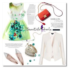 """""""Beautifulhalo 2"""" by alina-only21 ❤ liked on Polyvore featuring Giambattista Valli, Miss Selfridge, women's clothing, women, female, woman, misses, juniors and beautifulhalo"""
