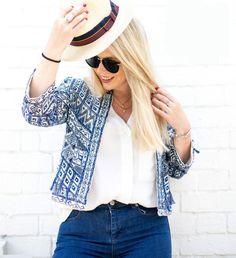 Zara Blue Embroidered Bead Jacket Size MEDIUM BNWT
