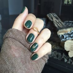 Emerald green nails are fascinating and exciting nail art design. That's why we want to show you some gorgeous and fashionable ideas so that you can try them when you need them. Emerald green nails are definitely the color that wears on nails this s Best Nail Art Designs, Gel Nail Designs, Nails Design, Shellac Nails, Nail Polish, Cute Nails, Pretty Nails, Hair And Nails, My Nails