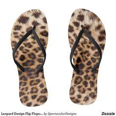 Leopard Design Flip Flops: Sandals Flip Flops