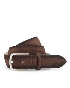 Paolo Vitale Gürtel aus Wildleder - dunkelbraun  Jetzt auf kleidoo.de bestellen!  #kleidoo #fashion #accessoires #gürtel #braun #mensfashion #paolovitale