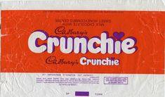s Crunchie wrapper Old Sweets, Vintage Sweets, Retro Sweets, Vintage Food, Sweet Wrappers, Tv Adverts, Diy Doll Miniatures, Vintage Packaging, Nostalgia
