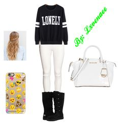 """""""Ready to Mingle"""" by lxvenaee on Polyvore featuring H&M, UGG Australia, Michael Kors and Casetify"""