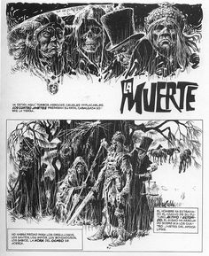 Comic Book Pages, Comic Page, Comic Books, Jordi Bernet, Alchemy Art, Comic Kunst, Vintage Horror, Cool Artwork, Amazing Artwork